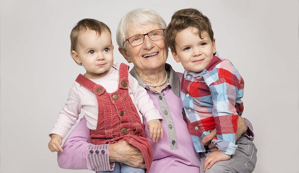 Fotos mit Großeltern
