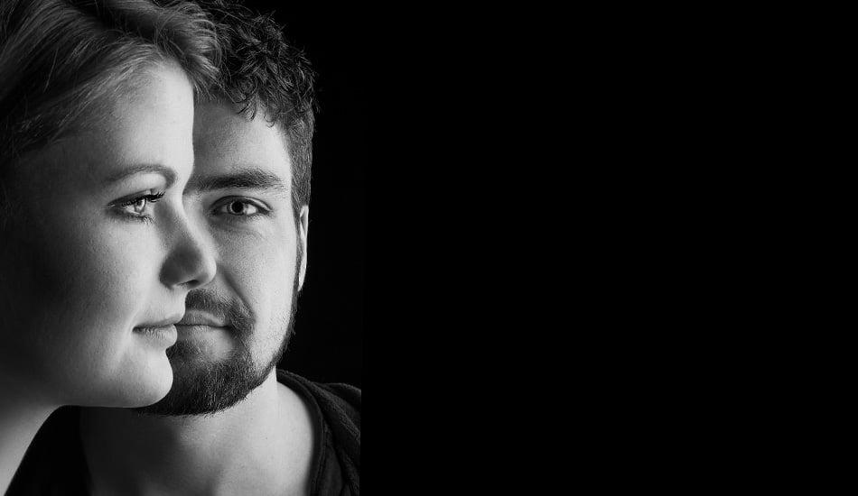 Porträtfotografie schwarz-weiß
